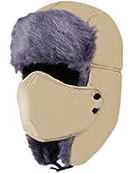 Material de acolchado de oreja de conejo gris sombrero del invierno