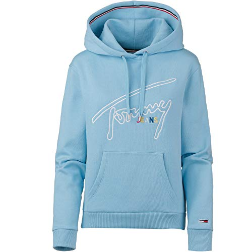 Tommy Jeans Damen Tommy Signature Hoodie blau S -