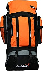 Foolsgold Extra große Trekkingrucksack Wanderrucksack mit doppeltem Zugang - Orange