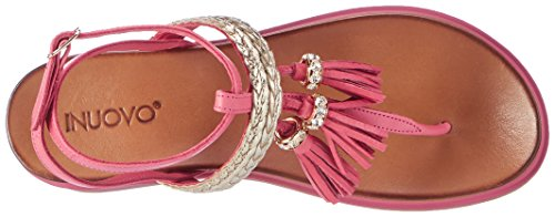 Inuovo Damen 7281 Plateausandalen Pink (LOLLY POPINK-GOLD)