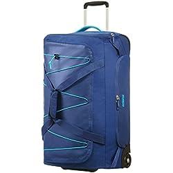 American Tourister Road Quest Wheeled Duffle Medium Bolsa de Viaje, 67 cm, 75 Liters, Azul (Deep Water Blue)