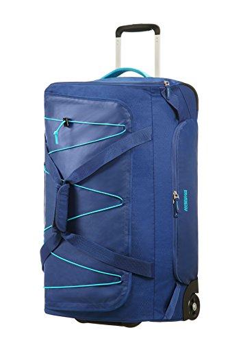 American Tourister Road Quest Wheeled Duffle Medium Reisetasche, 67 cm, 75 Liter, Deep Water Blue