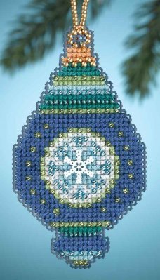 Lapis Beaded Counted Cross Stitch Ornament Kit MH164306 Mill Hill Christmas Jewels 2014 by Mill Hill (Mill Hill Ornamente)
