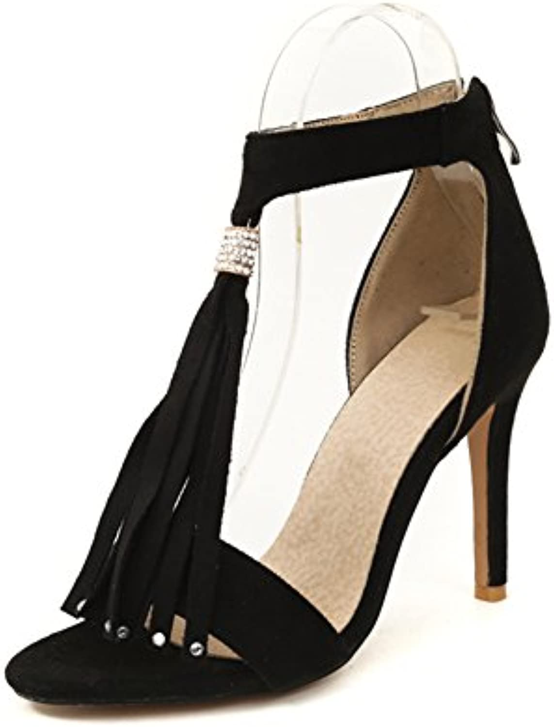 f286309b2e0e Women s Shoes Women s Fringed Suede Suede Europe and Shoes Ladies The 30219  United States HIGT Fine with Ladies Sandals B07CG5CQZZ Parent ede41d5