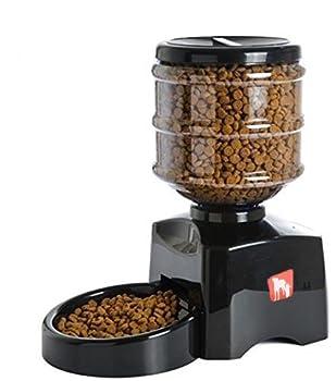 Amzdeal 5.5L Distributeur automatique de croquettes pour 2/3 fois par jour, Distributeur de nourriture et gamelle pour chien, chat et animaux domestiques