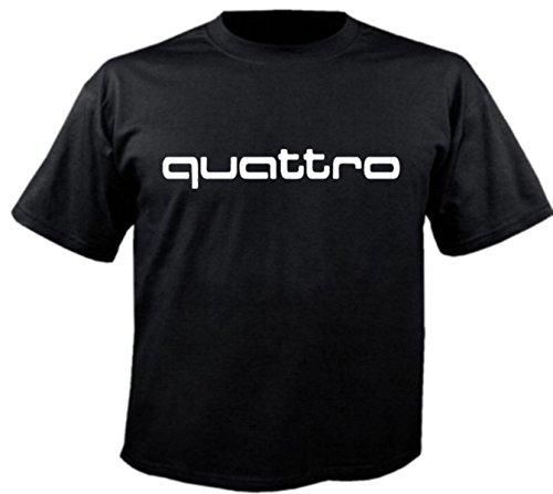 Motiv Fun T-Shirt Audi Quattro S3 S4 Tt R S Motorsport 80 100 Car Motiv Nr. 3726 Schwarz