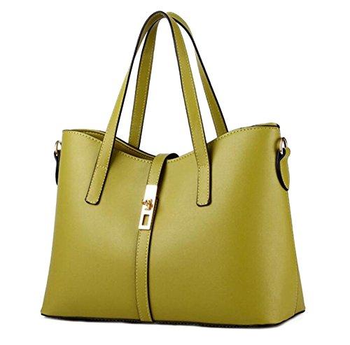 Baymate Weibliche Models Mode Schulter Handtaschen Messenger Bag PU-Leder Schultertasche Green