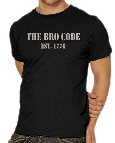 Touchlines Unisex/Herren T-Shirt How I Met Your Mother - THE BRO CODE, black/silver, XXXL, B1742 (Hammer Bros Halloween Kostüm)