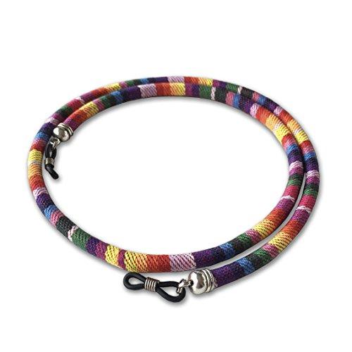 cordon-redondo-de-gafas-estampado-etnico-multicolor-rosa-amarillo-verde-azul