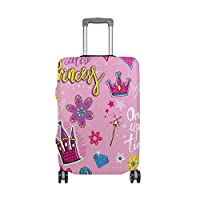 Princess Girl Design Travel Luggage Cover Stretchable Polyester Suitcase Protector Fits 18-20 Inches Luggage