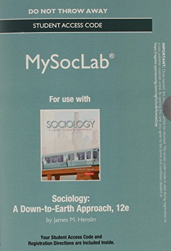 NEW MySocLab without Pearson eText -- Standalone Access Card -- for Sociology: A Down-to-Earth Approach (12th Edition) (Mysoclab (Access Codes)) by James M. Henslin (2013-12-12)