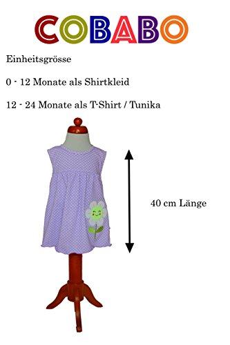 Sommer SALE! Sommerkleid | Shirt-Kleid Pincess Taufkleid Modell 6 gelb gepunktet mit Frosch