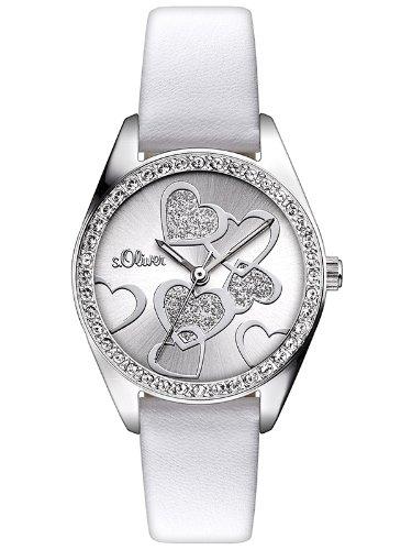 s.Oliver Damen-Armbanduhr XS Valentines Analog Quarz Leder SO-2856-LQ