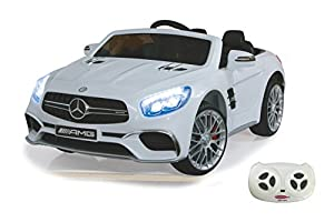 Jamara- Ride on Mercedes SL65 Blanco 12 V, Color (460296)