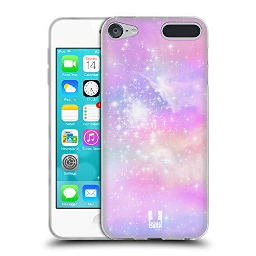 Head Case Designs Pink Und Blau Galaxie Pastell Soft Gel Hülle für Apple iPod Touch 6G 6th Gen - Touch Ipod Apple Mp3-player 64gb