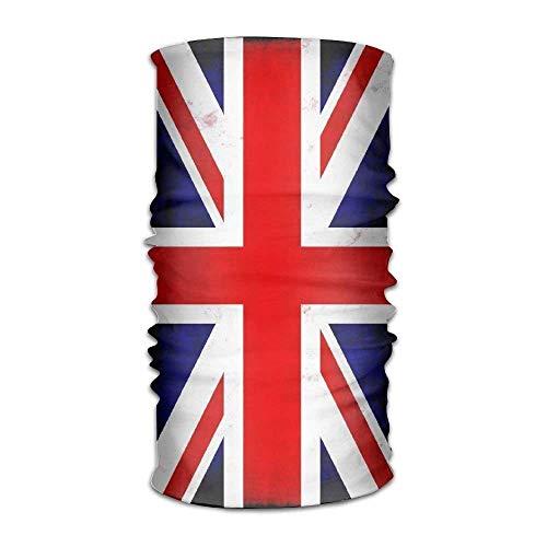 dingjiakemao Unisex Stylish Union Jack British Flag UK Quick Dry Microfiber Headwear Outdoor Magic Bandana Neck Gaiter Head Wrap Headband Scarf Face Mask Ultra Soft Elastic Handscarf