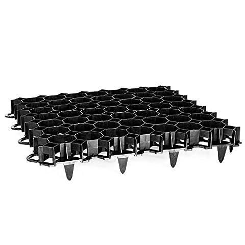 Rasengitter Rasengitterplatten Paddockplatte Platte Rasenwaben Rasenmatten schwarz 12 Stück