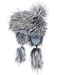 Futrzane Fellmütze Mongolische Mütze Bommel Wintermütze Pelzmütze (Husky Jenot)