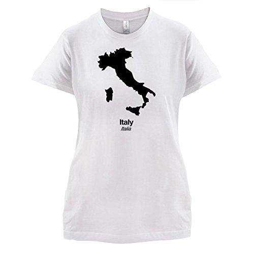 Italy / Italien Silhouette - Damen T-Shirt - 14 Farben Weiß