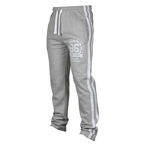Männer Herren Jogging Hosen Trainingshose Lang Fitness Sporthose Freizeithose Jersey Hose Joggerhose Casual Sweathose Gym Pants Hellgrau L Kootk