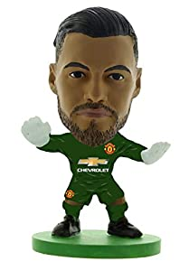 SoccerStarz SOC1280 Man Utd Sergio Romero-Home Kit (2019 Version)/Figuras, Verde