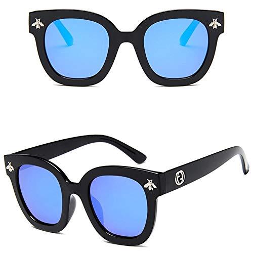 LAOBIAOZI Klassische Quadratische Sonnenbrille-Mann-Frauen-Marken-Weinlese-Bienen-Sonnenbrille-Schatten-weibliche Luxusbrillen-Designer-Anti-UVbrillen (Lenses Color : F)