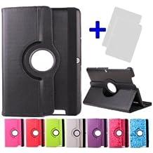 "Funda giratoria para Tablet Bq Edison 3 Quad Core 10.1"" Color: Verde + 2 Protectores de Pantalla"