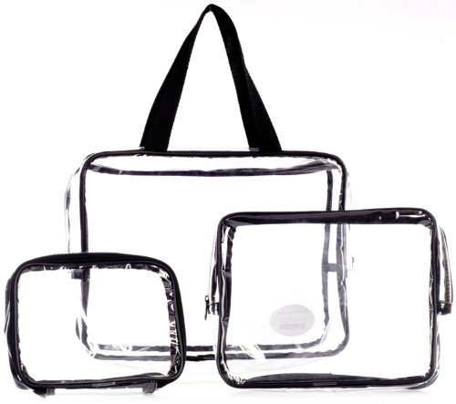 Danielle Three-Piece PVC Bag Travel Set