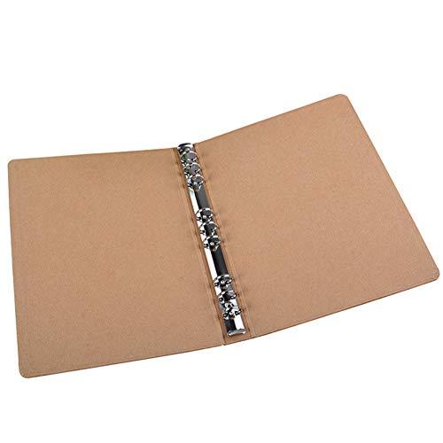 B5 Binder Vertikal Ordner Platz Skizzen Plain Kraft Ordner Multifunktions-DIY-Abdeckung Abnehmbare Metallringbuch mit 9 Löchern (Kraftpapier Binder)