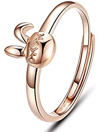 Titaniumcentral Sterling Silver Forever Infinity Cubic Zirconia Ring Rose Gold Rhodium Plated Love & Friendship barW3UrgR