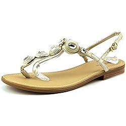 White Mountain Glow Damen US 7.5 Gold Sandale