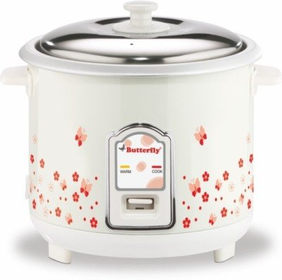 Butterfly BLOSSOM 1. 8L WHITE Electric Rice Cooker(1. 8 L,...