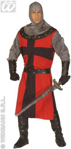 Widmann WDM44482 - Costume Per Adulti Cavaliere dell'Epoca Oscura, Rosso,