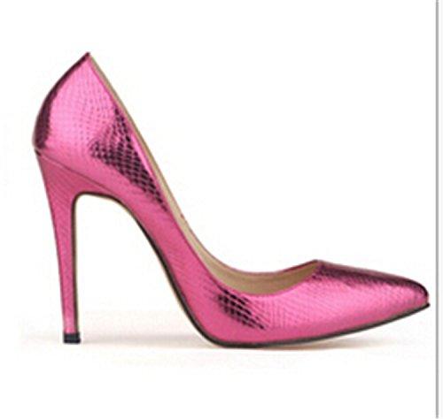 Euochengqus Big Yards 35-42 The Small Crocodile Shoes Women Pump Sexy cusp Shoe Heels Spring Brand Wedding High-Heeled Shoes w806 1 5.5