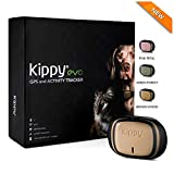 Kippy Evo | Le Nouveau GPS + activité | pour Chiens et Chats 38 GR | Waterproof | durée 10 Jours | Brown Wood