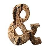Outflower - Lettere e numeri in legno da appendere al muro, vintage, per ristoranti, 10cm, Legno, and, 10 cm