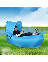 ZLmN Sofá de aire inflable portátil Ocio ultra impermeable Tumbona inflable Durable Cofre impermeable Hamaca ideal