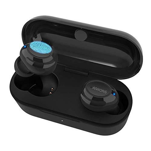 AIWONS Auriculares Bluetooth Inalámbricos, Mini In-Ear Bluetooth 5.0 Auricular Táctil Inalámbrico...