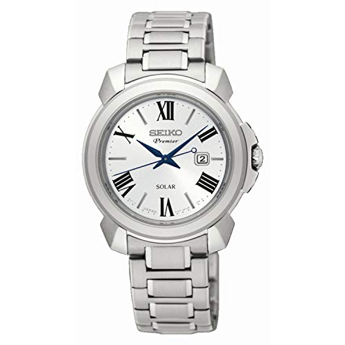 Seiko Damen Analog Solar Uhr mit Edelstahl Armband SUT321P1 - Damen Uhr Seiko Solar