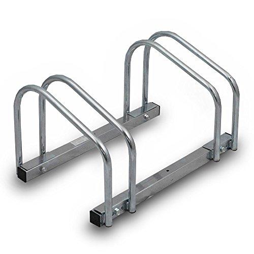 BITUXX® Fahrradständer Aufstellständer Radständer Fahrrad Bike Ständer Metall Verzinkt Platzsparend (Für 2 Fahrräder)