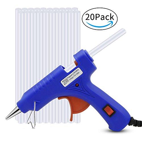 Heißklebepistole, Bukm MiniKlebepistolemit 20 StückKlebesticks Klebestifte für DIY kleine Handwerksprojekte, Hausreparaturen, 20Watt Klebepistolen