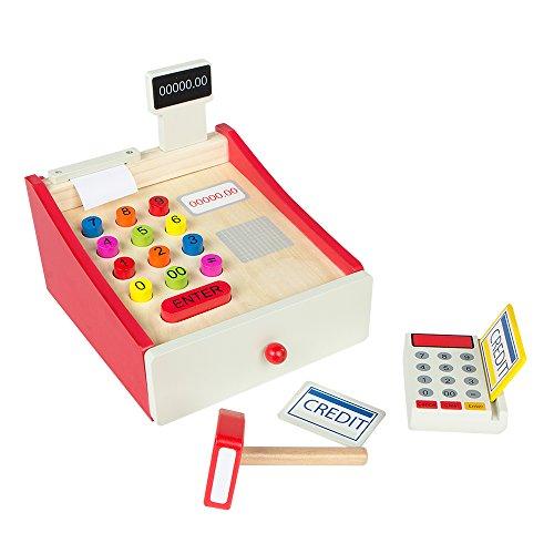 ColorBaby- Caja registradora de Madera (Color Baby 43628)