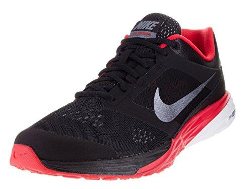 Nike Herren Tri Fusion Run Laufschuhe, Schwarz/Grau/Rot/Weiß (Blk/Gry-Unvrsty Mtlc Rd CL-Whi), 44 EU (Männer Schuhe Fusion)
