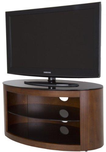 AVF Buckingham Walnuss TV Ständer Ovale Form mit 2Einlegeböden für 35,6-101,6cm LCD Plasma LED Bildschirme -
