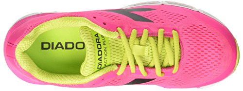 Diadora Action Plus W, Scarpe da Corsa Donna Rosa (Rosa Shocking/Nero)