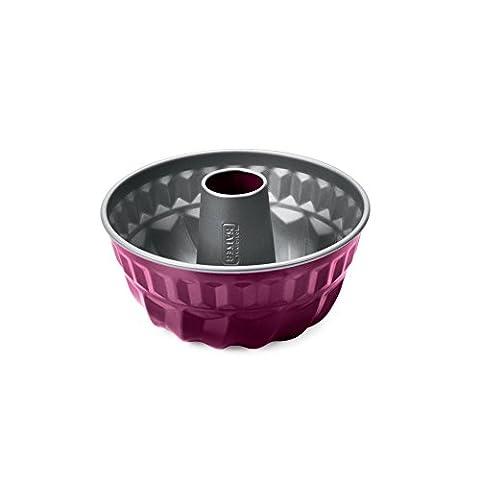 Kaiser Bundform Raspberry Berry Color Gugelhupfform gute Antihaftbeschichtung attraktiver Zweifarben-Optik gleichmäßige Bräunung durch optimale Wärmeleitung, 22 cm