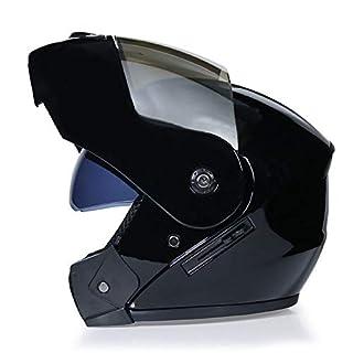 DanNN Motorrad Full Face ECE Helm-YEMA YM-829 Racing Motorcycle Helmet mit Sun Visor,Black,M