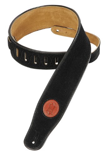 levys-suede-leather-guitar-strap-black