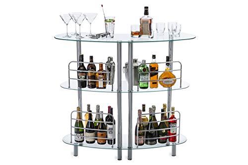 bar @ Drinkstuff cromato in vetro Argento 25,4/cm colore