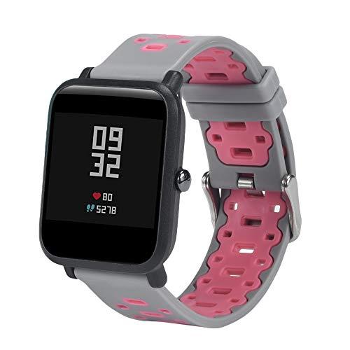 JiaMeng Ligera de Pulsera de Silicona Wristband Pulsera de Repuesto para Amazfit...